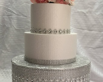jeweled wedding cake stands 12 peacock inspired bling rhinestone cake stand cake 16595