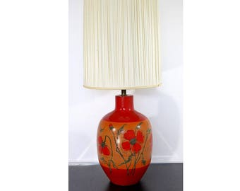 Mid Century Modern Alvino Bagni for Raymor Ceramic Pottery Table Lamp Italy
