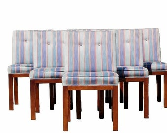 Mid Century Modern Dale Ford For John Widdicomb Walnut Set Of 8 Dining Chairs