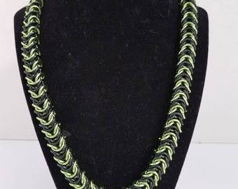 Chainmail Box weave necklace