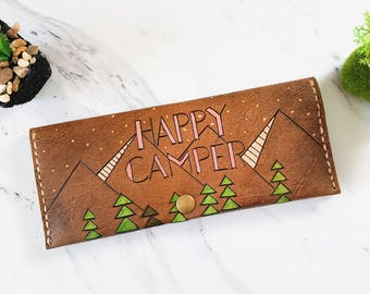 womens leather wallet / Womens leather mountain wallet /woodland leather wallet / Gift for her