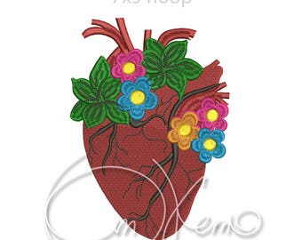 MACHINE EMBROIDERY DESIGN - Mexican heart, mexican embroidery