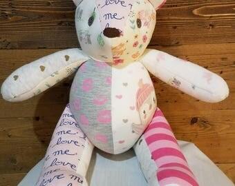 Custom Baby Memory Bears, handmade from your baby's clothing