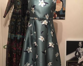 Couture Silk Day Dress FULLY Lined
