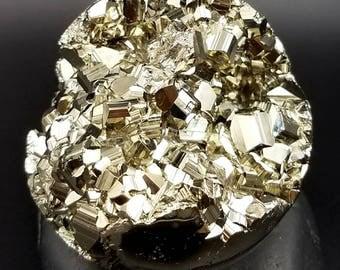 "Premium Pyrite Sphere 2.6"" - Crystal Ball for Prosperity Manifestation Abundance - Sacred Space Altar Home Decor Meditation Centerpiece"