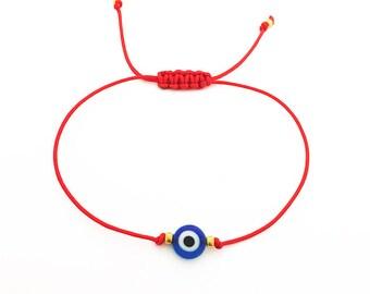 Red String Evil Eye Bracelet - Friendship Bracelet - Best Friend Gift - Lucky Bracelet - Blue Evil Eye