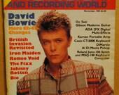 David Bowie Dio Johnny Rotten Iron Maiden Nov 1984 International Musician magazine