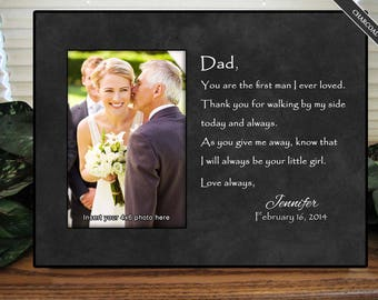 Father of the Bride GIft, Father of the Bride, First Man I Loved II, Wedding Frame, Personalized Wedding Frame, Wedding Gifts for Parents