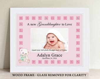 Personalized Baby Girl Picture Frame, Baby Gift, Personalized Baby Picture Frame