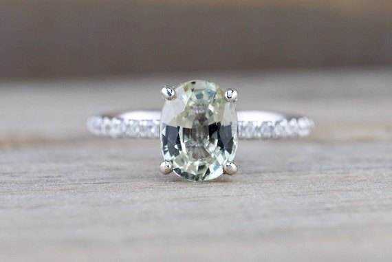 blue s light ring green shimmery sapphire engagement and jewlry mounting pin pinterest