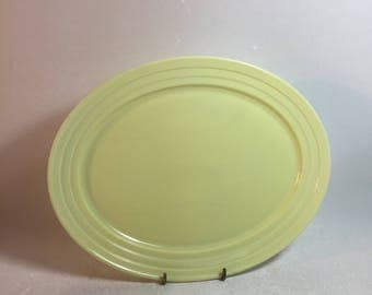Vintage Hazel Atlas Pastel Yellow Moderntone Platonite Serving Platter