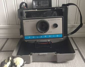 Polaroid Automatic 210 Land Camera, Vintage Polaroid Camera, Land Camera, Vintage Camera, Polaroid With Cold Clip, & User Manual, 210