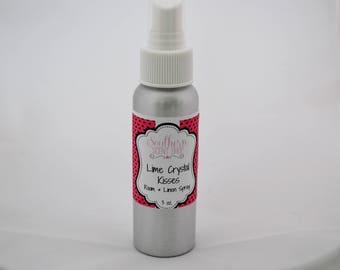 Lime Crystal Kisses -  Room And Linen Spray - Lime Room Spray - Room Deodorizer - Pillow Spray - Odor Eliminator - Home Fragrance