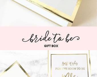 Personalized Bridal Shower Gift for Bride Gift Ideas Wedding Shower Gifts for Bride Bachelorette Gifts for Bride Gift Box (EB3171BPW) EMPTY