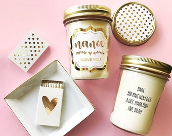 Nana Gift Personalized - Nana Candle - Grandma Gift Christmas - Grandmother Card Nana Gift from Granddaughter Nana Gift Ideas (EB3178FT)