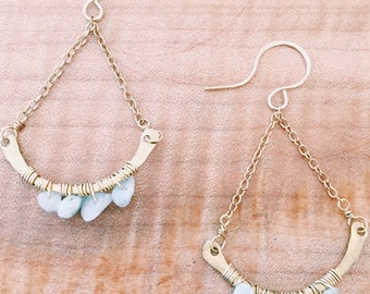 Chalcedony Arch Earrings