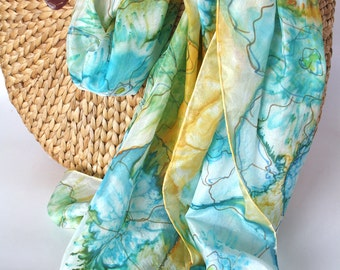 Women's scarves - Hand painted silk scarves - Spring summer scarves - Natural silk scarf - Silk scarves - Summer accessoires