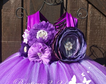 Lavender Flower Girl Dress, Purple Flower Girl Dress, Plum Flower Girl Dress, Lavender Tutu Dress, Purple Tutu Dress, Plum Tutu Dress