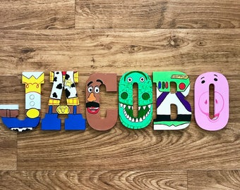 Toy Story Wooden Letters - Woody, Buzz Lightyear