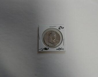 FRANKLIN HALF DOLLAR-1963 D- Silver   Circulated  Ungraded