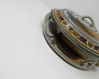 Stunning Andrew Hague Studio Pottery Lidded Casserole Dish Askrigg Pottery
