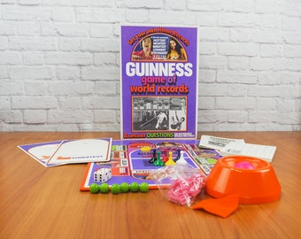 1975 GUINNESS Game of World Records Vintage Board Game
