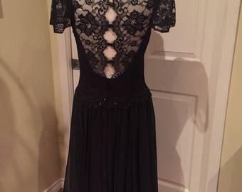 Vintage Jessica McClintock black dress
