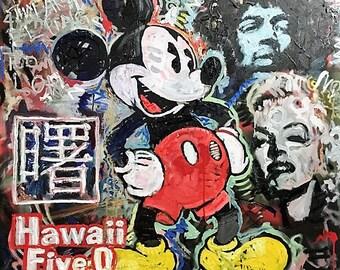 CUSTOM Painting Pop Art by Matt Pecson Pop Art Painting Large Wall Art Original Painting Canvas Painting Urban Art