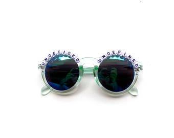"""Phish Undermind """"Undecided, Undefined"""" hand decorated Groovy Glasses, Phish embellished sunglasses, Phish novelty gift"""
