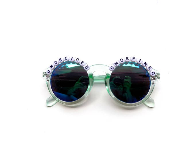 "Phish Undermind ""Undecided, Undefined"" hand decorated Groovy Glasses, Phish embellished sunglasses, Phish novelty gift"