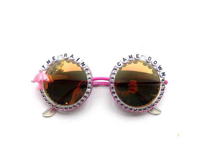 """Phish Petrichor """"The Rain Came Down"""" hand decorated sunglasses, MSG New Year's Eve commemorative sunglasses"""