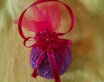 Decorative Sachet, Lavender hanging sachet, Decorative Pomander, Victorian Style Ornament, Romantic Lavender sachet, Lavender Ornament