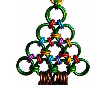 Chainmaille Kit: Holiday Ornament - Christmas Tree - Intermediate - Instructions sold separately