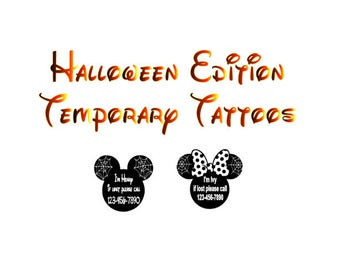 Halloween Edition Mickey and Minnie Lost and Found Temporary Tattoos
