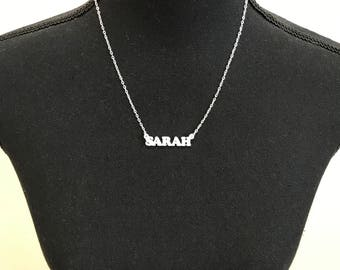 Customizable name necklace: Sarah – Choose any word to personalize – 3D printed - Free and fast shipping