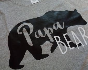 Papa Bear T-Shirt - Gift for Dad - Father's Day - New Dad - Gift for New Dad - Dad to Be - Papa Bear Shirt - Family Bear Shirts