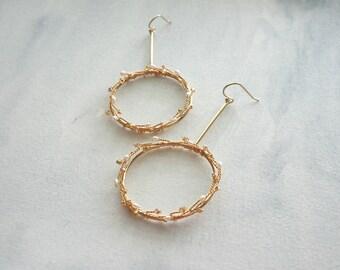 Gold Bridal Earrings, Hoop Earrings, Gold Wedding Jewelry, Bridal Jewelry, Bridal Shower Gift, Gold wedding, Weddings, Fancy, Feminine