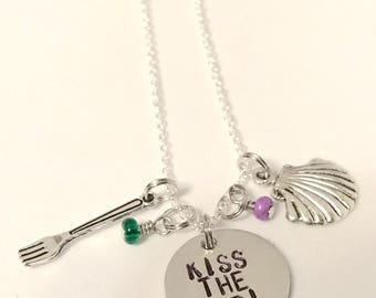 "Little Mermaid Inspired Necklace - ""Kiss The Girl"""