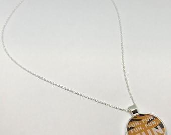 Hundred Acre Woods Tiger Disney Fan Art Necklace