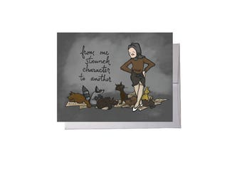 Staunch Character Edie Greeting Card - Blank Inside