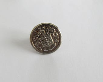 Vintage round silver metal button