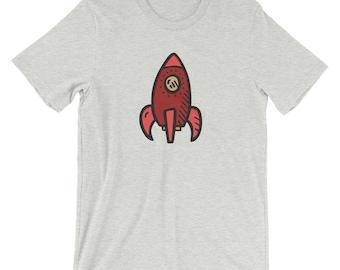 Handdrawn Red Rocket T-Shirt