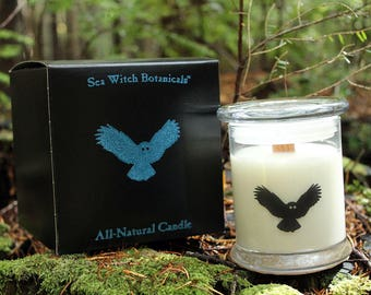 The White Lodge: All-Natural Candle - Soy, Fir Needle, Cedarwood Atlas Essential Oils