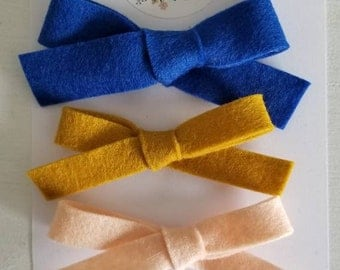 Molly Anne trio. One size fits all headbands or hair clips