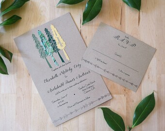 Young Evergreen Invitation Set