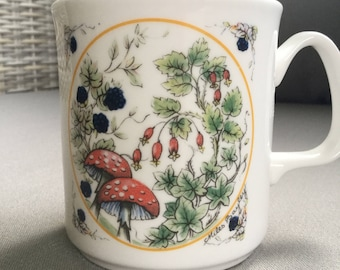Grosvenor England Fine Bone China Meadowland Collection Bittersweet Miles Bayley Coffee Tea Cup