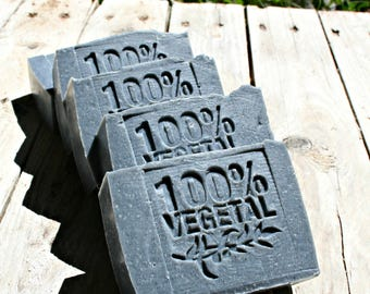 Black clay and Neroli-handmade natural SOAP-SOAP vegan-Tuscan olive oil-