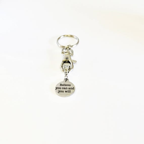 Believe You Can And You Will Keychain, Encouraging Keychain Gift For Her, Daughter Gift, New Job Gift, Motivational Gifts, Believe In You