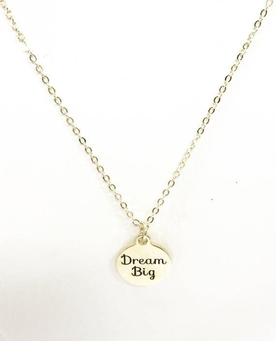 Dream Big Necklace, Motivational Necklace, Encouragement Necklace, Encouragment Gift, Motivational Gift, Direct Sales Team Gift For Her