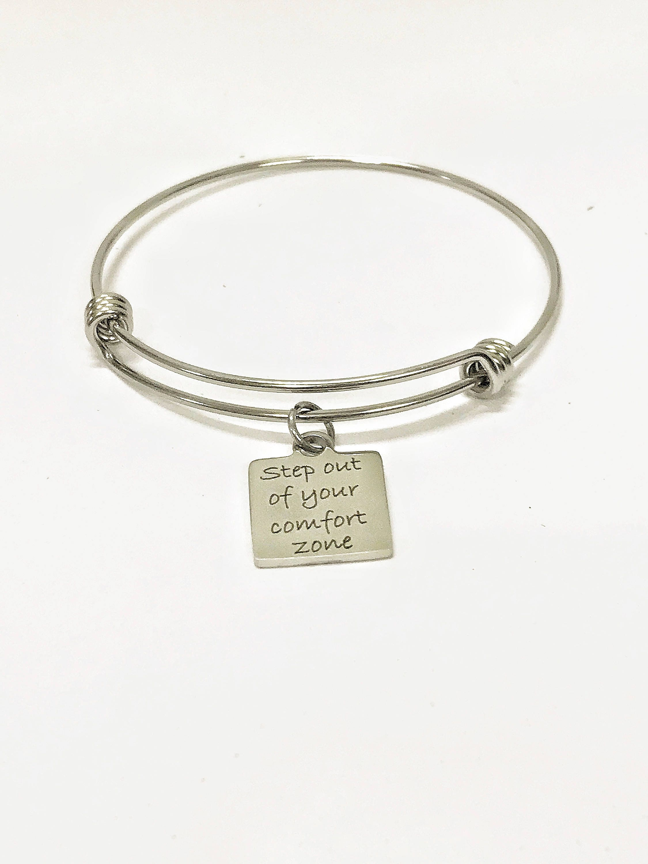 motivational il step grandchild jewelry bracelets fullxfull charm comfort bangle bracelet stacking of moving forward c your out zone